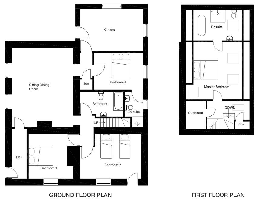 Coast Cottage – Floorplans